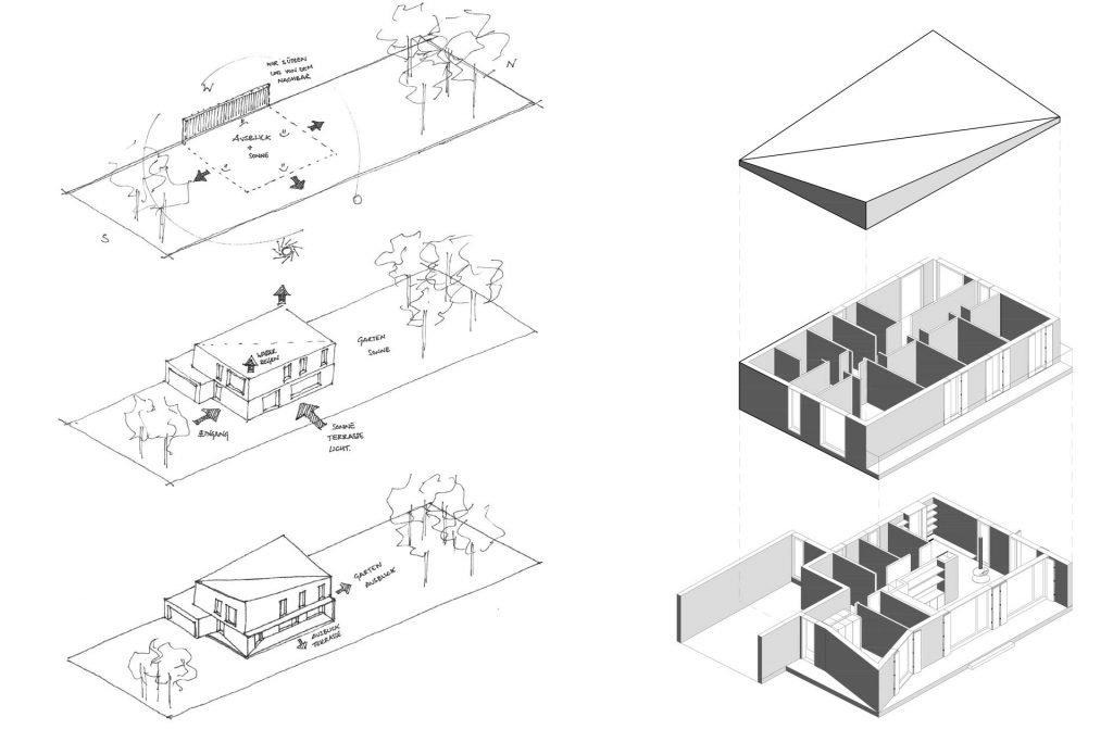 Skizze eines Projeketentwurfs