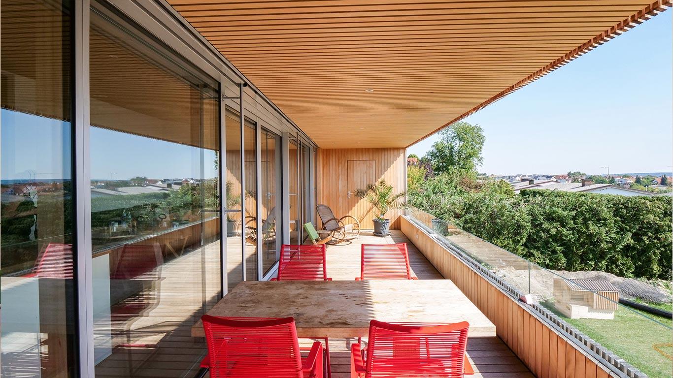 Bauprojekt Balkon