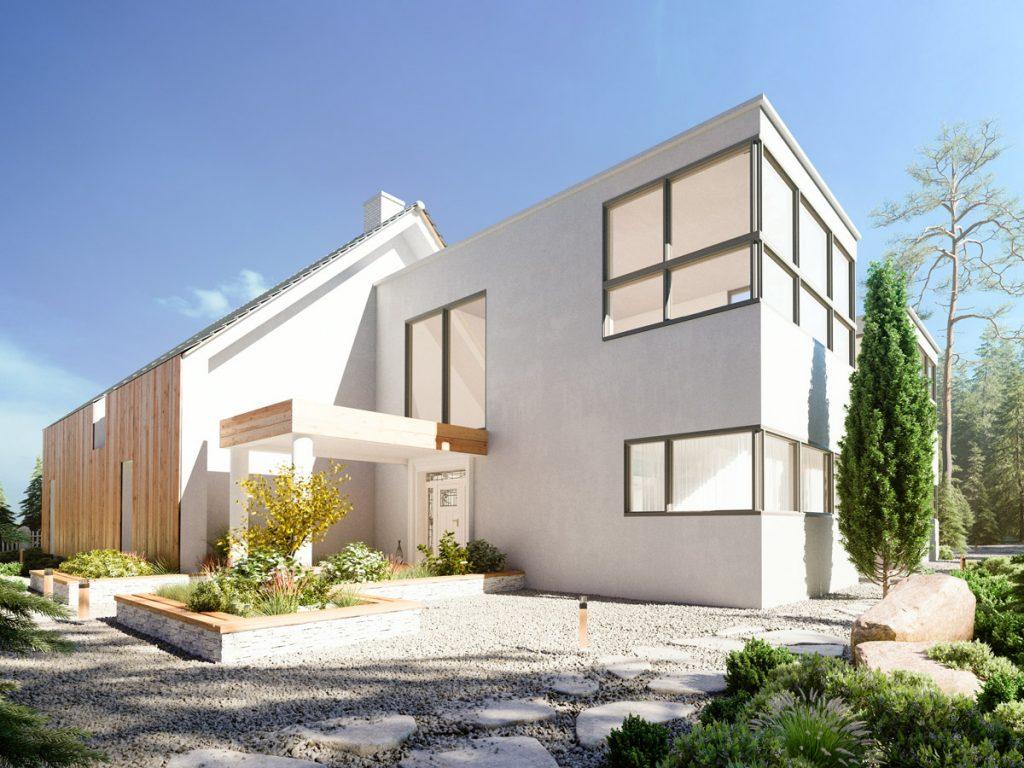 Modernes Holzhaus von popularc