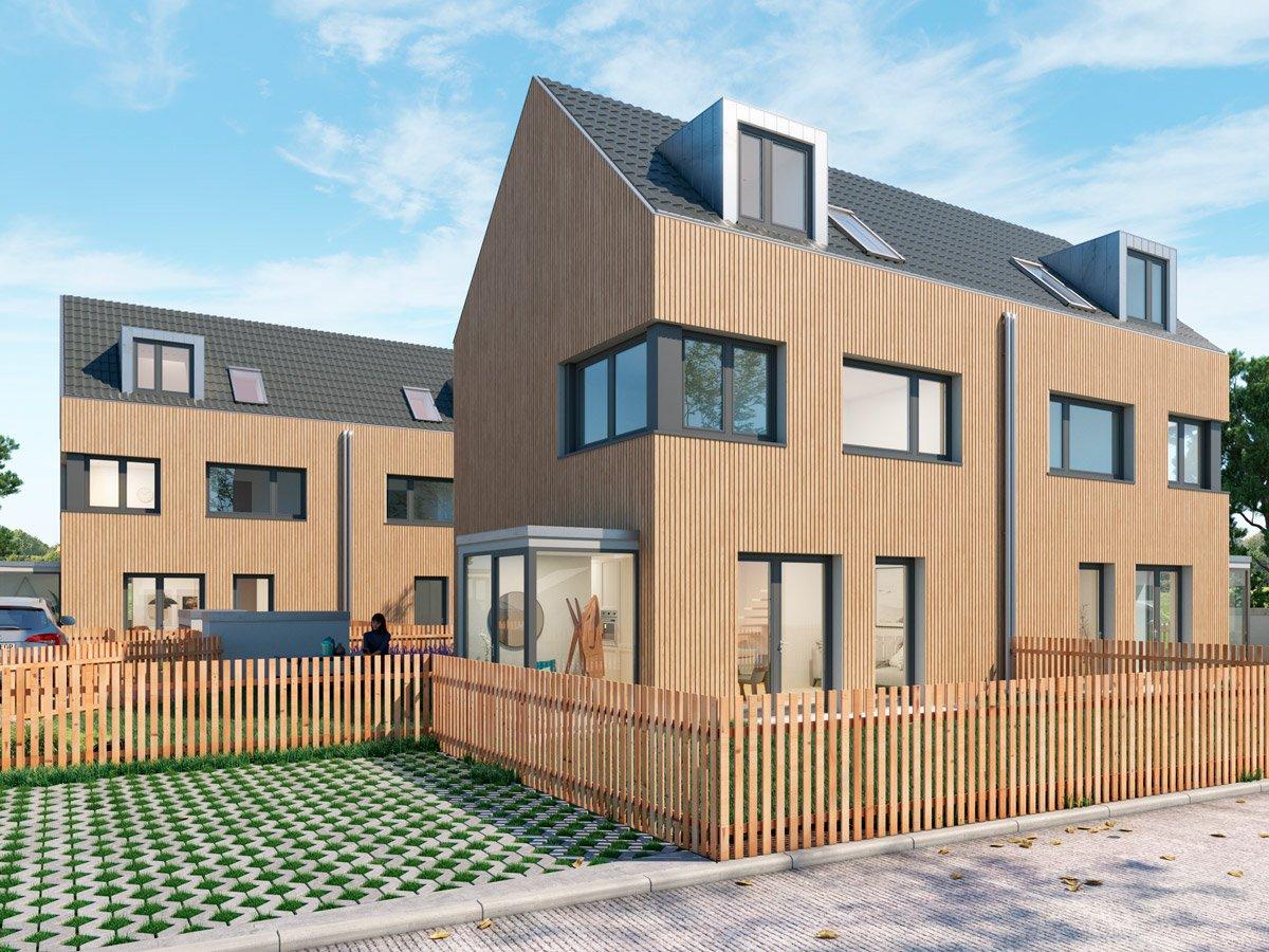Popularc Referenz: Doppelhaus aus Massivholz - Stil 1