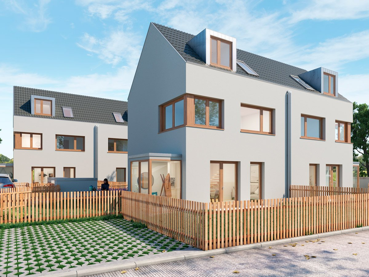 Popularc Referenz: Doppelhaus aus Massivholz - Stil 3