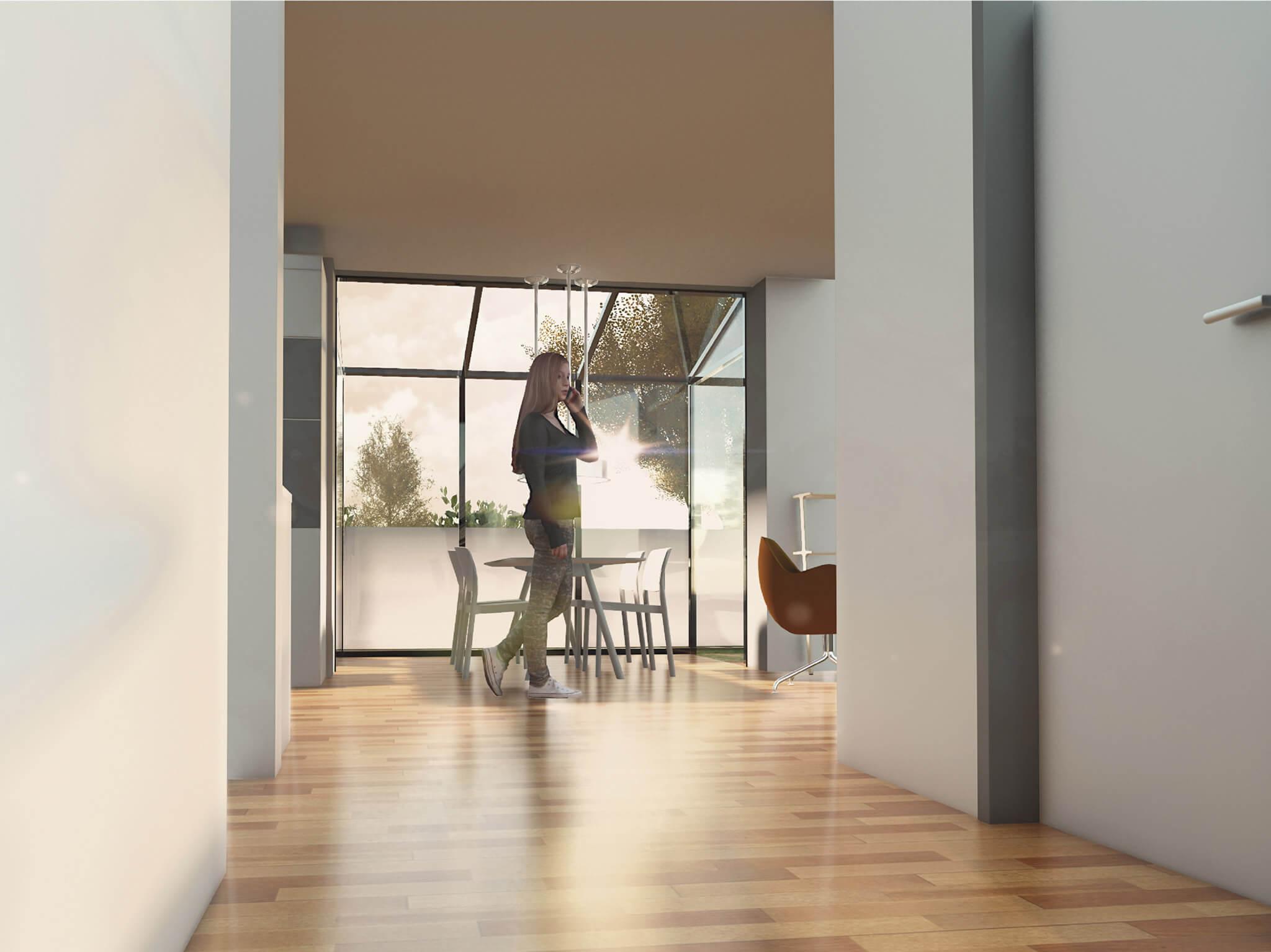 popularc Referenz Doppelhaus: Wohnzimmer