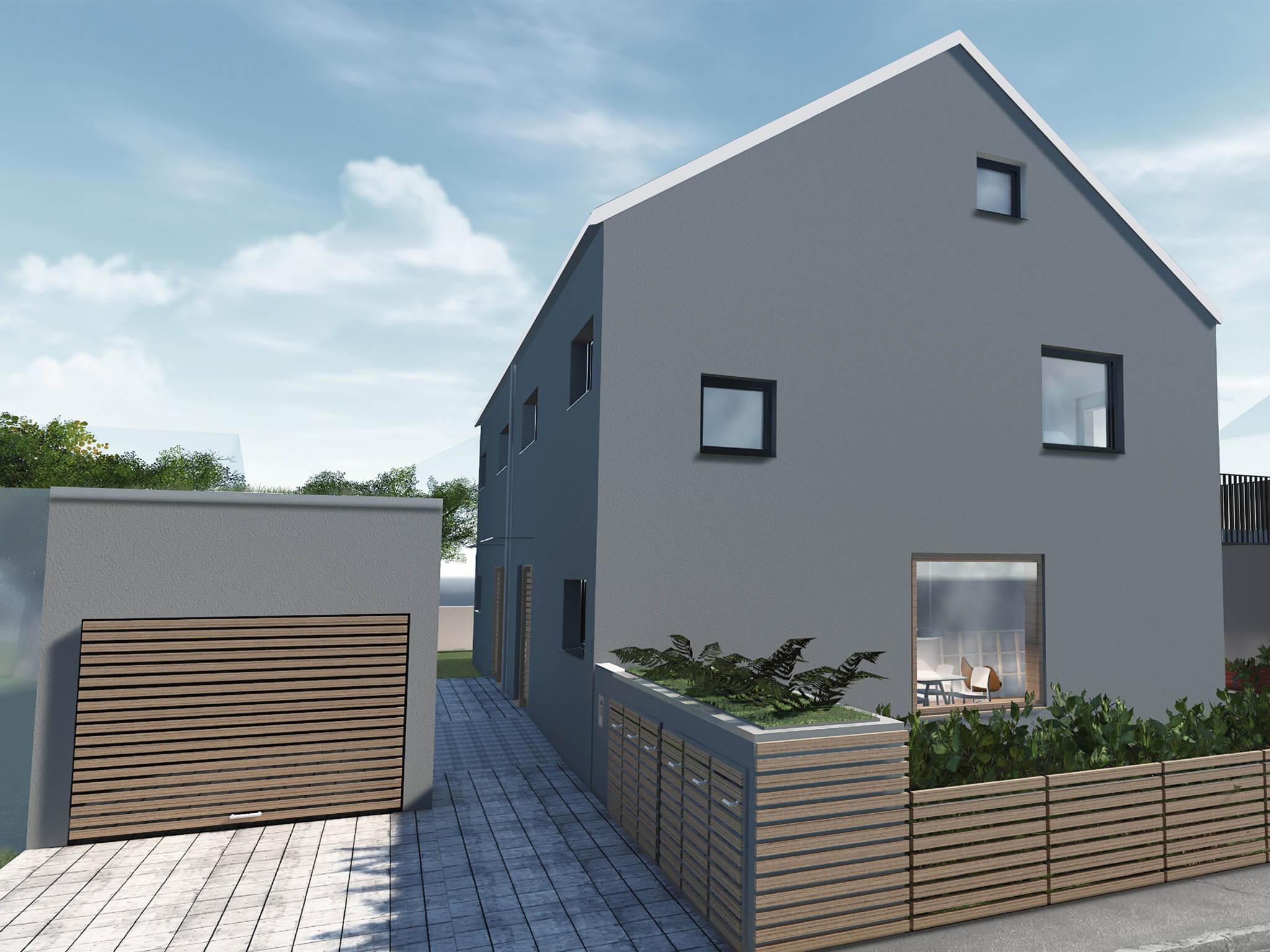 popularc Referenz Doppelhaus: Frontansicht